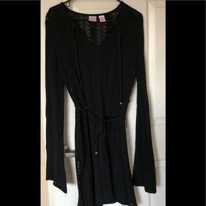 Knit sheer dress